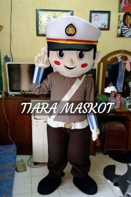 Kostum badut maskot polisi