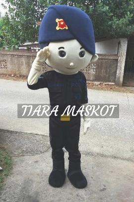 gambar kostum badut maskot polisi brimob kecil