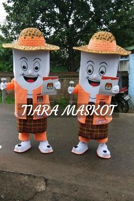 Kostum maskot kpu kabupaten tangerang si tudung