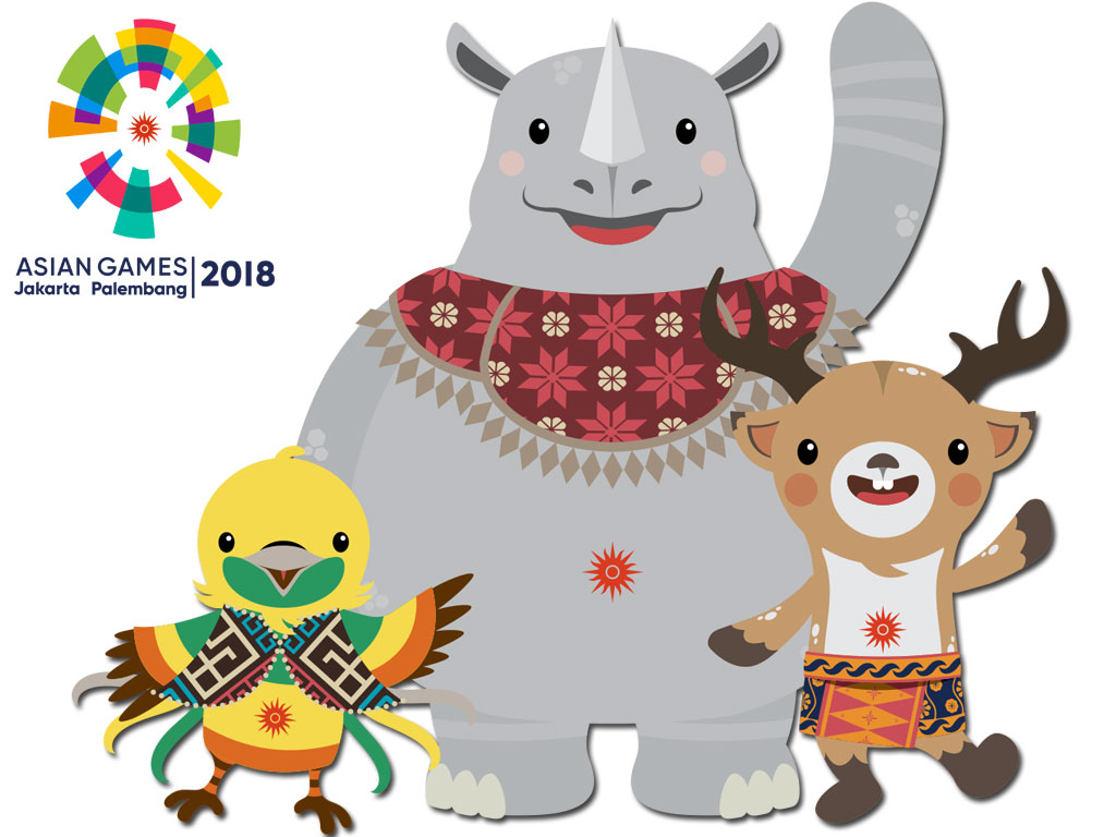 Maskot Asian Games 2018 Bhin Bhin Atung dan Kaka by Tiara Maskot - Asian Games 2018 Wallpaper