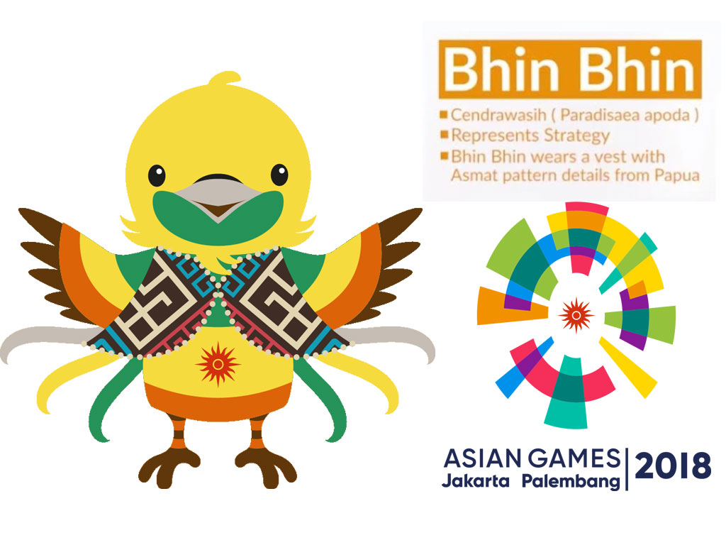 Maskot Asian Games 2018 Bhin Bhin by Tiara Maskot - Gambar Asian Games 2018