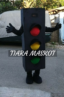 badut maskot lampu merah dinas perhubungan